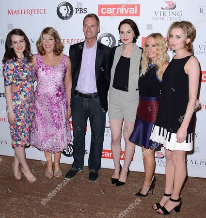 Editorial picture of 'Downton Abbey' TV series Season Four photocall, Los Angeles, America - 06 Aug 2013