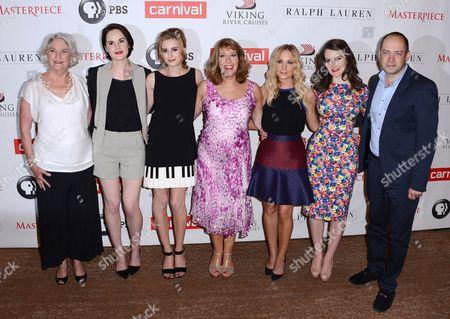 Editorial photo of 'Downton Abbey' TV series Season Four photocall, Los Angeles, America - 06 Aug 2013