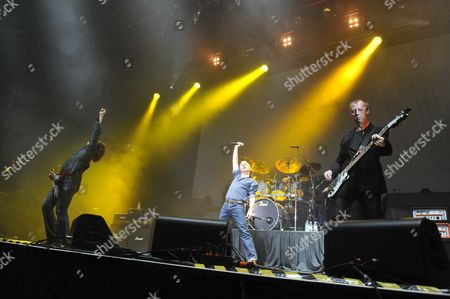 London, Britain - May 29: British Hard Rock Group Thunder Performing Live On Stage At Wembley Arena In London On May 29