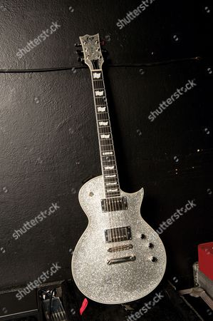 An ESP Eclipse electric guitar used by Alan Ashby of 'Of Mice and Men'