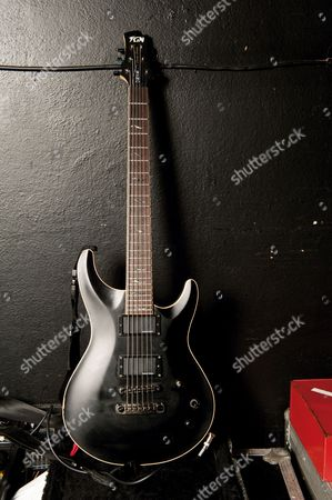 A FGN Eel Dark Evolution electric guitar used by Alan Ashby of 'Of Mice and Men'