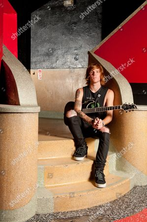 London, Britain - October 10: Alan Ashby Rhythm Guitarist Of American Metalcore Band Of Mice & Men October 10