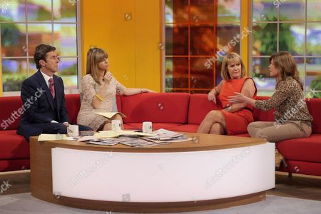 Stock Image of John Stapleton and Kate Garraway with Christina Young and Emma B
