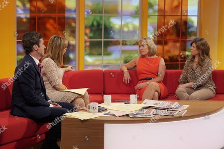 John Stapleton and Kate Garraway with Christina Young and Emma B