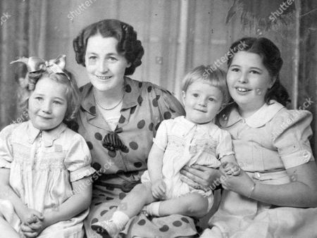 Sister Wendy Beckett (far right) as a child with (from left) her sister Pamela, mother Dorothy and brother Timothy
