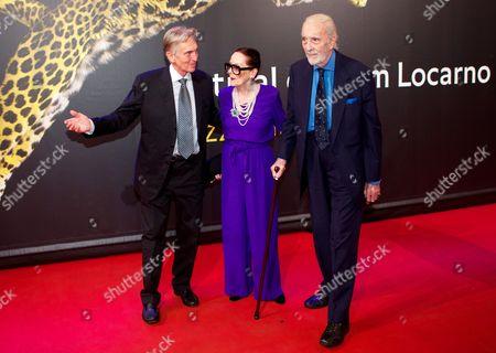 Marco Solari, Birgit Kroencke and Christopher Lee
