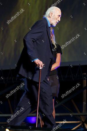 Christopher Lee receives the Excellence Award Moet et Chandon