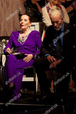 Birgit Kroencke and Christopher Lee