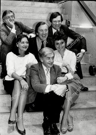 The Breakfast Television Programme Tvam Stars L To R Michael Parkinson David Frost Peter Jay Anna Ford Angela Rippon And Robert Kee.