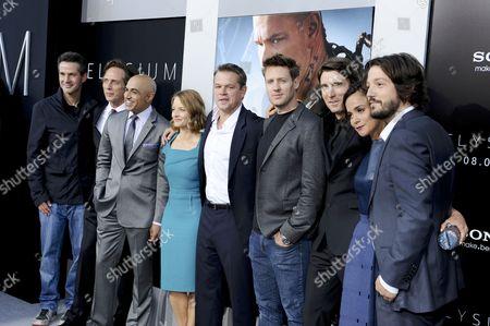 Simon Kinberg, William Fichtner, Faran Tahir, Jodie Foster, Matt Damon, Neill Blomkamp, Sharlto Copley, Alice Braga and Diego Luna