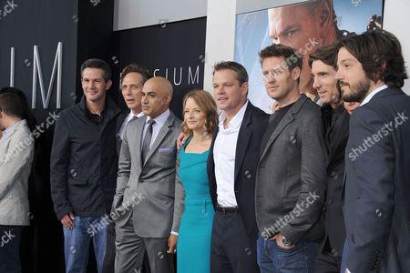 William Fichtner, Faran Tahir, Jodie Foster, Matt Damon, Neill Blomkamp, Sharlto Copley, Alice Braga and Diego Luna