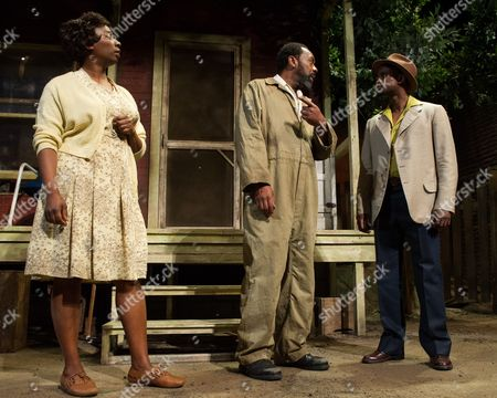 'Fences' - Tanya Moodie (Rose), Lenny Henry (Troy Maxson) and Peter Bankole (Lyons)