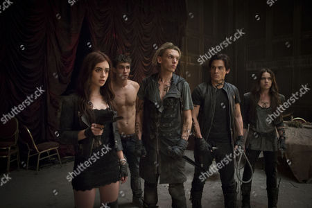 Stock Picture of The Mortal Instruments City of Bones (2013) Lily Collins, Robert Sheehan, Jamie Campbell Bower, Kevin Zegers, Jemima West