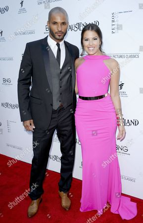 Stock Picture of Ricky Whittle and Sandra Hinojosa