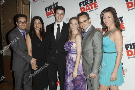 Stock Picture of Austin Winsberg, Alan Zachary, Michael Weiner and Guests