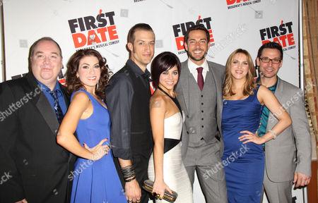 Stock Photo of Blake Hammond, Kate Loprest, Bryce Ryness, Krysta Rodriguez, Zachary Levi, Sara Chase and Kristoffer Cusick