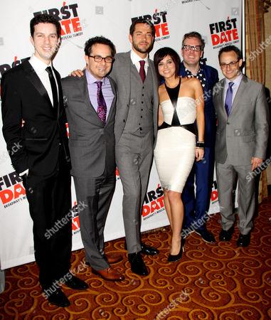 Stock Picture of Alan Zachary, Austin Winsberg, Zachary Levi, Krysta Rodriguez, Bill Berry and Michael Weiner