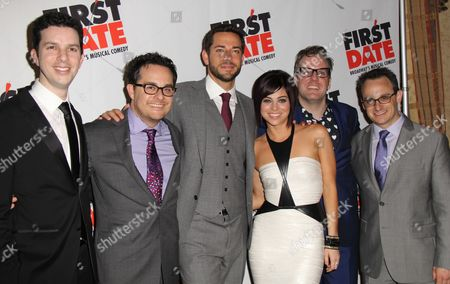 Stock Picture of Alan Zachary, Austin Winsberg, Zachary Levi, Krysta Rodriguez, Bill Berry and Michael Weiner