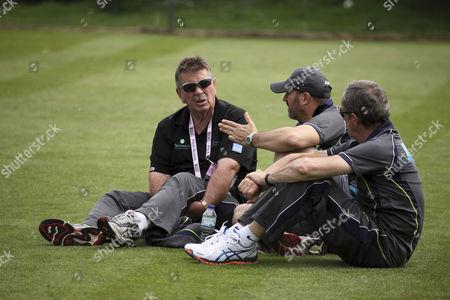 Rodney Marsh (left) at Australia's training session