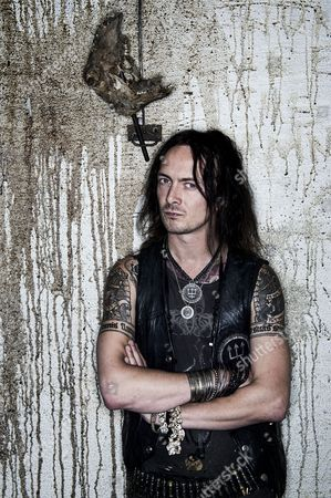 Editorial picture of Erik Danielsson Of Swedish Black Metalband Watain, Sweden - 06 Aug 2013