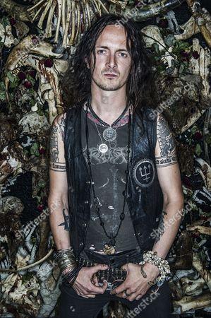 Stock Picture of Singer Erik Danielsson Of Swedish Black Metalband Watain