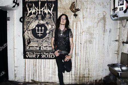 Stock Image of Singer Erik Danielsson Of Swedish Black Metalband Watain