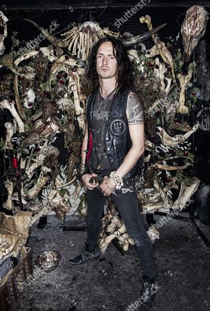 Editorial image of Erik Danielsson Of Swedish Black Metalband Watain, Sweden - 06 Aug 2013