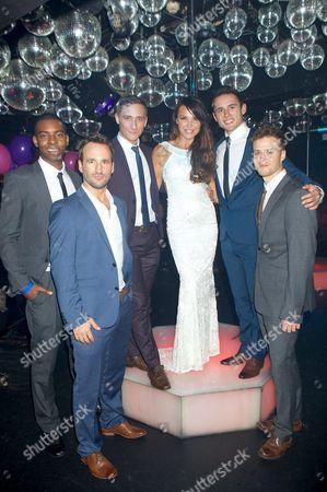 Stock Photo of Teyane Linton, Gavin Alex, Matt Korrs, Lizzie Cundy, Rory Phelan and Chris Grierson