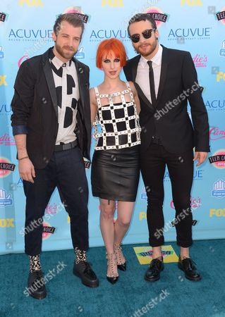 Paramore - Jeremy Davis, Hayley Williams and taylor york