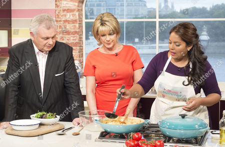 Eamonn Holmes and Ruth Langsford with Shelina Permalloo