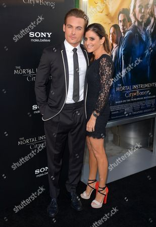 Stock Photo of Kevin Zegers and wife Jaime Feld