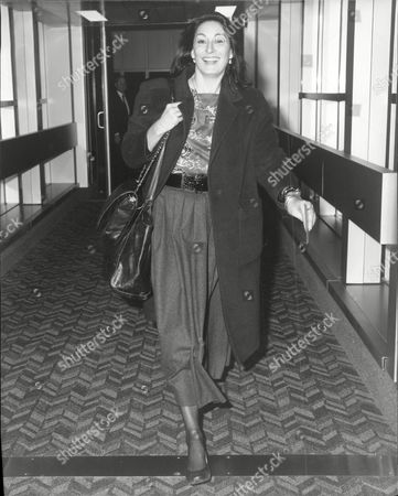 Editorial image of Actress Angelica Huston At The Airport.