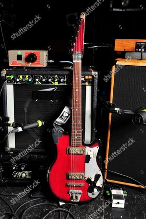 London United Kingdom - December 3: A Zim-gar Electric Guitar And Amplifiers Used By Jon Spencer Of American Alternative Rock Band The Jon Spencer Blues Explosion - December 3