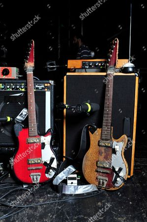 London United Kingdom - December 3: A Pair Of Zim-gar Electric Guitars Used By Jon Spencer Of American Alternative Rock Band The Jon Spencer Blues Explosion - December 3