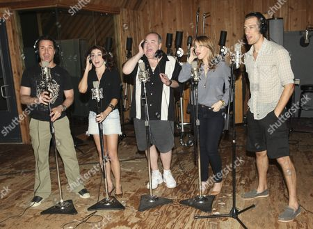 Editorial photo of First Date cast album recording, New York, America - 12 Aug 2013