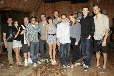 Stock Photo of Kristoffer Cusick, Kate Loprest, Blake Hammond, Austin Winsberg, Bill Berry, Krysta Rodriguez, Zachary Levi, Michael Weiner, Sara Chase, Alan Zachary and Bryce Ryness