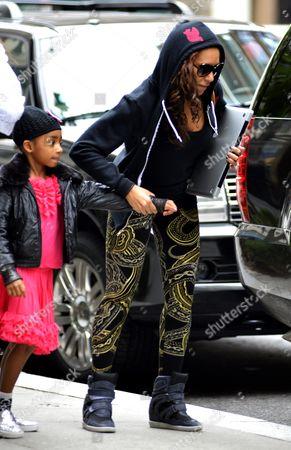 Melanie Brown with daughter Angel Iris Murphy Brown