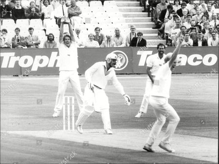 Cricket: New Zealand Tour Of England 1986 - Graham Dilley Traps Bruce Edgar Lbw To Give England An Early Breakthrough.