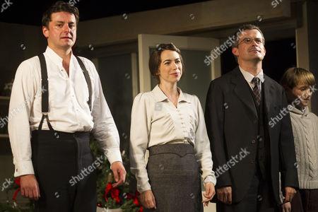 Dominic Rowan (Torvald), Caroline Martin (Kristine Linde) and Nick Fletcher (Nils Krogstad) during the curtain call