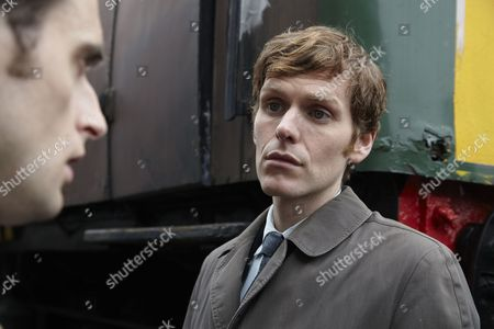 Jack Laskey as DS Peter Jakes and Shaun Evans as Endeavour