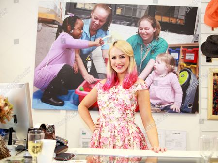 Editorial photo of Leanne Jarvis launches Haven House's new charity shop, Epping, Essex, Britain - 14 Aug 2013