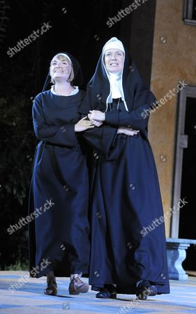 Charlotte Wakefield as Maria, Helen Hobson as Mother Abbess