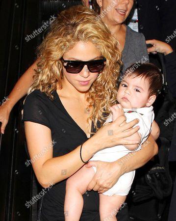 Stock Photo of Shakira and Milan Pique Mebarak