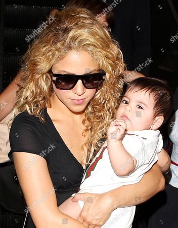 Stock Image of Shakira and Milan Pique Mebarak