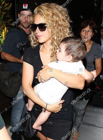 Stock Picture of Shakira and Milan Pique Mebarak