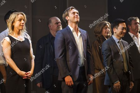 Stock Picture of Claudie Blakley (Tessa), Stephen Campbell Moore (Joe) and David KS Tse (Zhang Xhao/Pengfei) during the curtain call