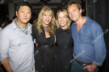 Benedict Wong (Zhang Lin), Sonia Friedman (Producer), Claudie Blakley (Tessa) and Stephen Campbell Moore (Joe)