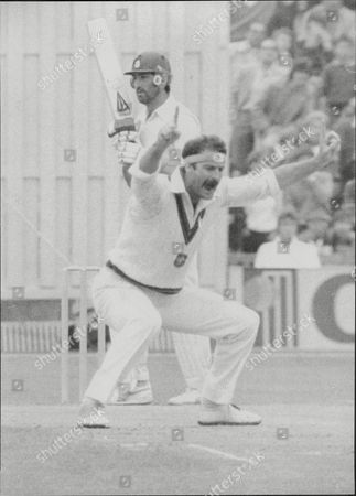 Cricket: Australian Tour Of England 1981 - England V Australia Fifth Test Match - Out Goes England's Graham Gooch As Dennis Lillee Successfully Appeals For Lbw.