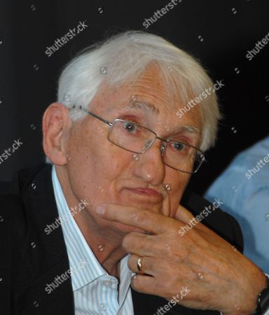 Editorial picture of German philosopher Juergen Habermas at the World Congress of Philosophy in Athens, Greece - 06 Aug 2013