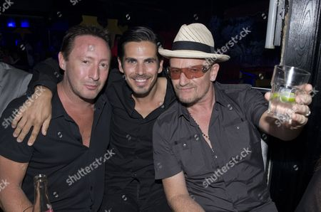 Julian Lennon, Michael Canitrot and Bono